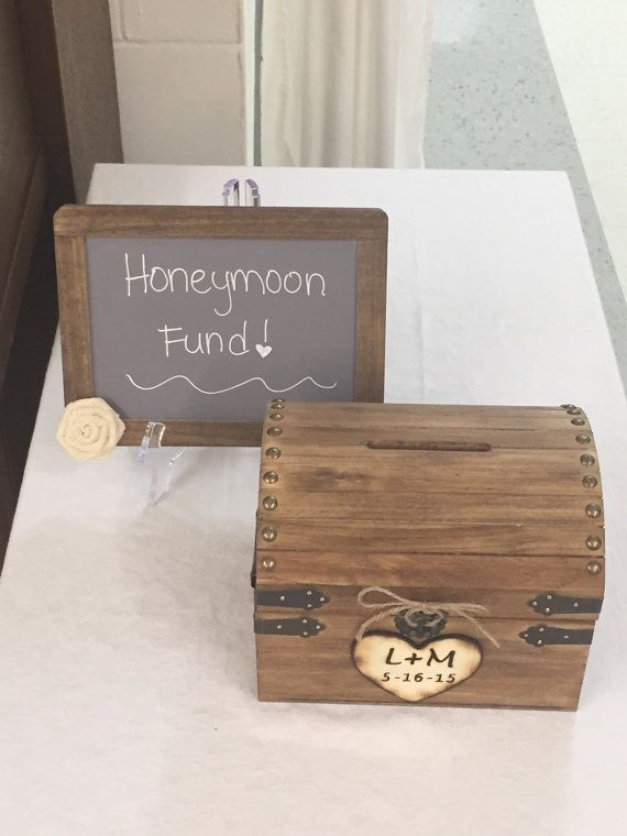 Hey, I found this really awesome Etsy listing at https://www.etsy.com/listing/226425183/honeymoon-fund-wooden-chest-with