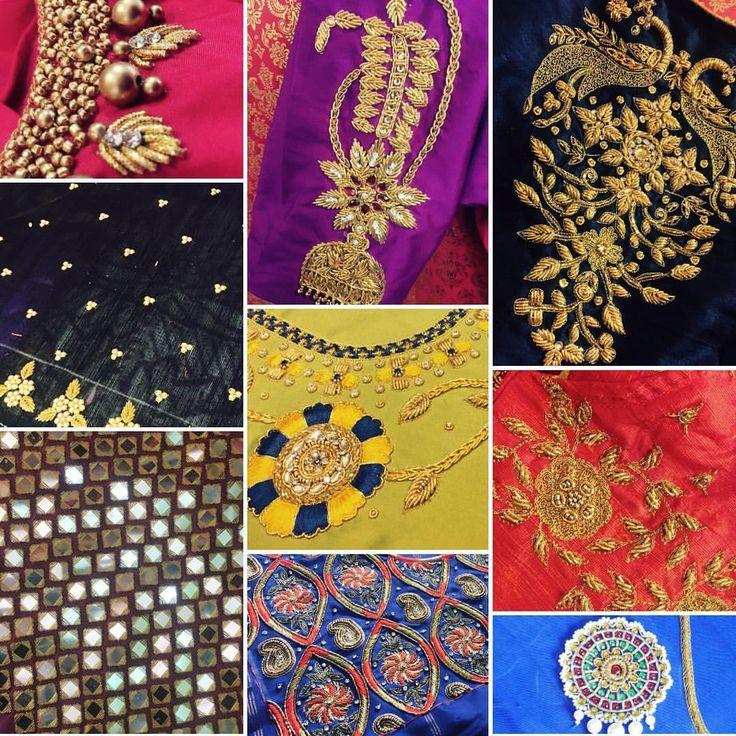 Detailing love u2764ufe0f handembroidery detailing intricate bridal blousework 18 November 2016