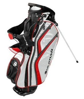 With a graphite safe top these mens OS 7.7+ golf stand bags by Orlimar feature one large garment pocket and four accessory pockets