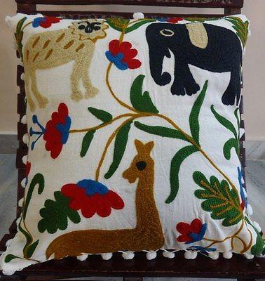 Suzani-Pom-Pom-Pillowcases-Indian-Cotton-Cushion-Covers-Animal-Throw-Pillow-Sham