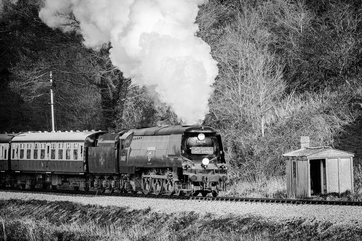 FYI: SALE : Framed Mounted Print : Atlantic Coast Express, Wadebridge #exmoor