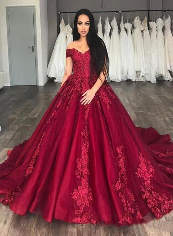 760ba1dce50 Princess Red Sweet 16 Prom Dress