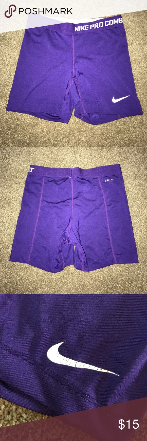 Nike pro combat spandex Good condition, gently used. Super comfy. Size S. great for volleyball or working out! Nike Shorts