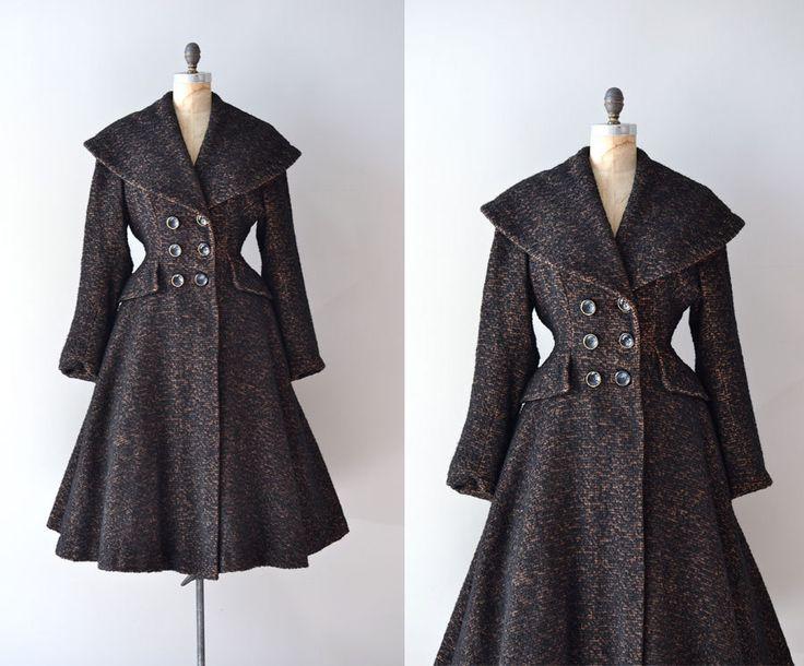 **LOVE** vintage 1950s coat / wool 50s princess coat / Sturm und Drang. $425.00, via Etsy.