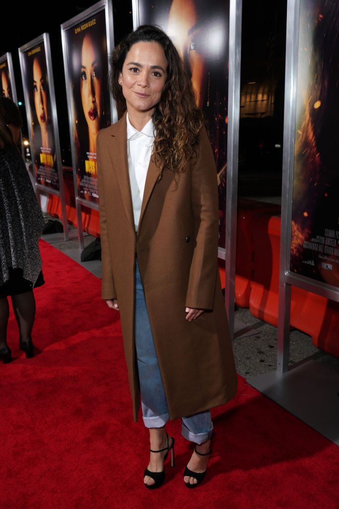 Actress Alice Braga Attends The Premiere Of Columbia Pictures