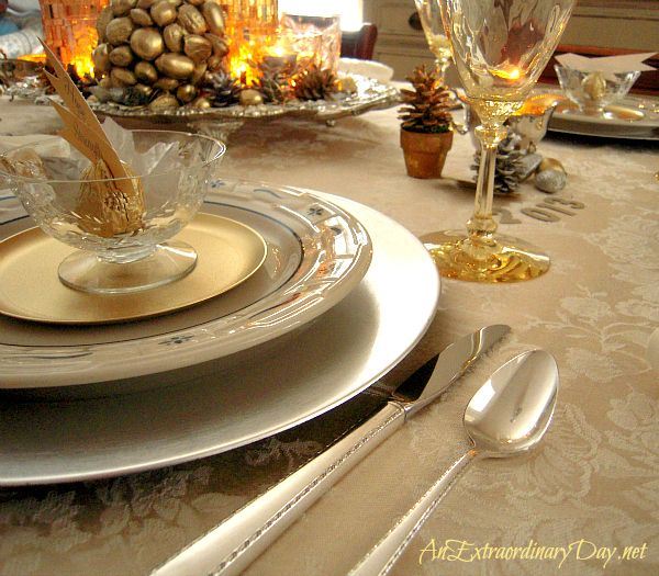 Gold & Silver Table Setting | A New Year's Celebration