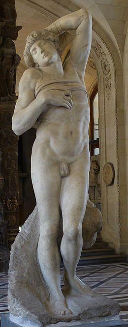 Michel ANGE, l'Esclave mourant, Michel-Ange 1513-1516, marbre,  229 cm,musée du Louvre