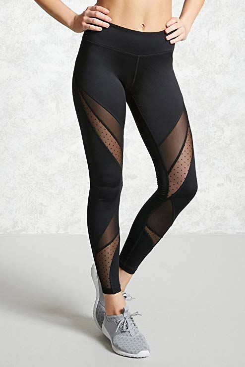super service meilleur service 2019 real Women's Mesh Panel Side High Waist Leggings Skinny Workout ...