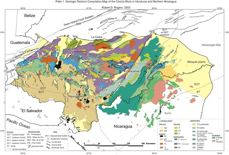 Geologic Tectonic Compilation Map Of The Chortis Block In