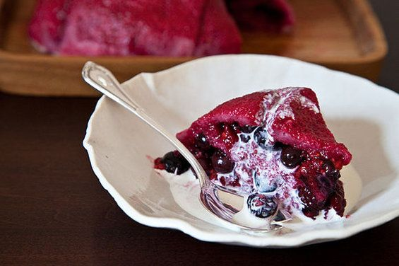 I've had versions of this and never tried it.  Looks like a recipe that can easily be cut down to serve one or two... or I could eat the whole thing ;) Berry Summer Pudding