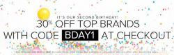 The Iconic Celebrates 2nd Birthday: 30% Off Top Brands - Until 30 Oct 2013