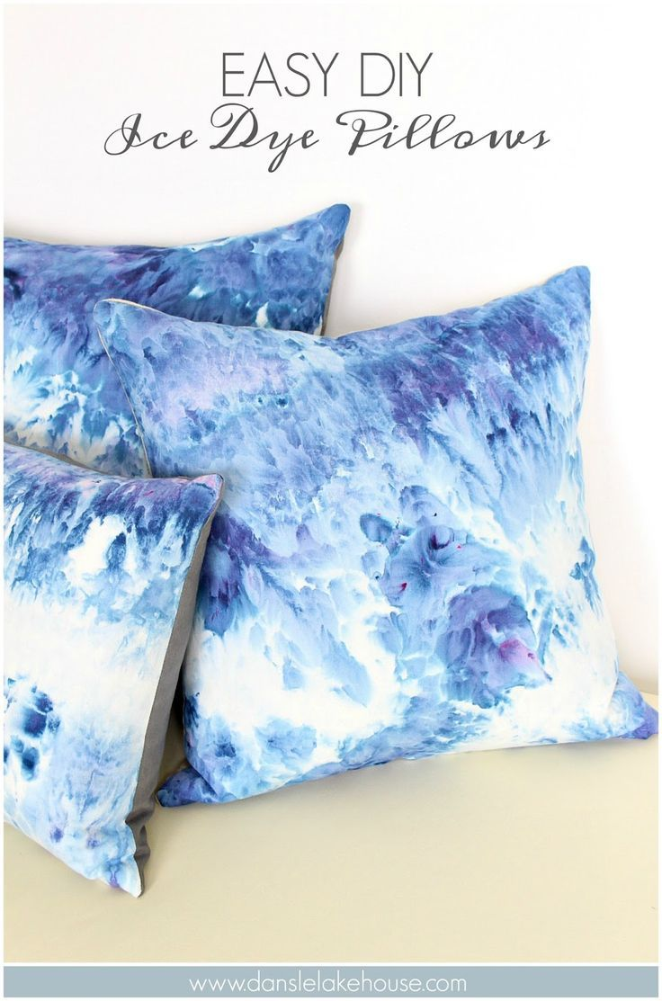 DIY Ice Dye Pillows | Ice Dye Tutorial with Tons of Tips and Tricks from… DIY inspiration. Please choose cruelty free vegan, eco and non toxic dyes