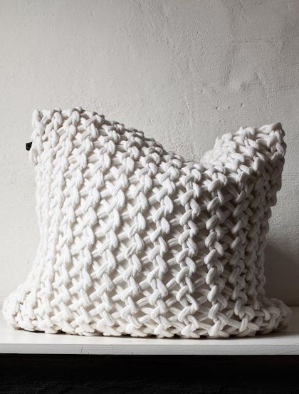 Cosy and warm cushion, for the winter. Love the textile