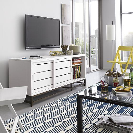 Clapboard white 60 media console media consoles crate White media console