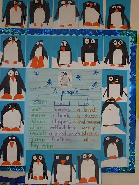 Observational/Comment writing for first grade - write on penguin's belly