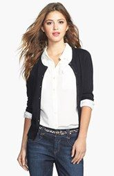 Halogen® Three Quarter Sleeve Cardigan (Regular & Petite) Nordstrom $46
