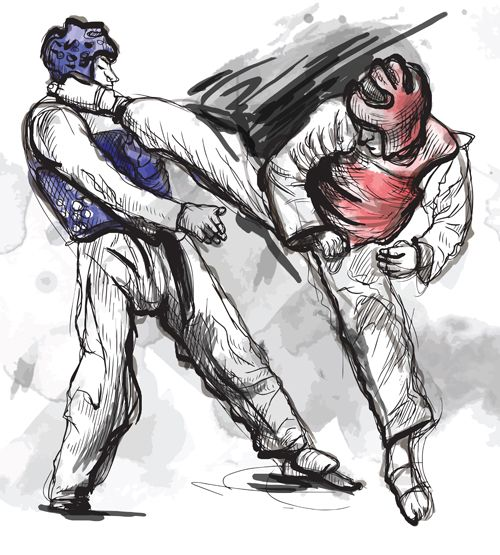 Taekwondo watercolor hand drawing vector 01 - https://www.welovesolo.com/taekwondo-watercolor-hand-drawing-vector-01/?utm_source=PN&utm_medium=wesolo689%40gmail.com&utm_campaign=SNAP%2Bfrom%2BWeLoveSoLo
