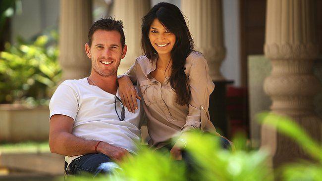 Shaun Tait and his girlfriend Mashoom Singha