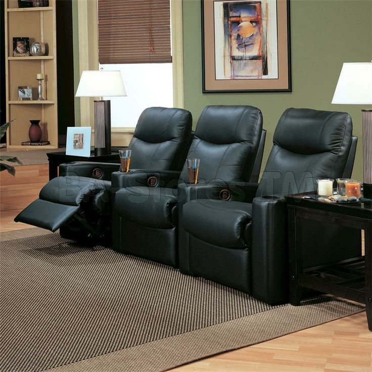 Directoru0027s Collection Reclining Theater Seating Group - Coaster ... & 8 best Home Theater seating images on Pinterest | Bonded leather ... islam-shia.org