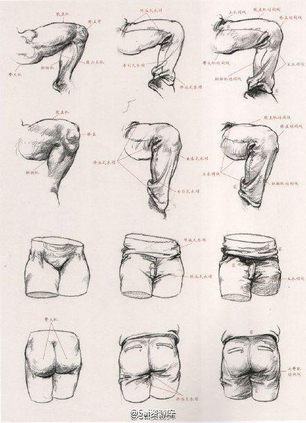 教你怎样用衣纹去表现人体结构,非常实用,...