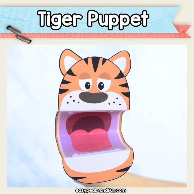 Pleasing Tiger Puppet Printable Raft Template Tiger Crafts For Kids Home Interior And Landscaping Analalmasignezvosmurscom