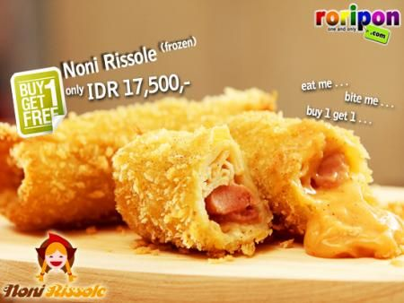 [ Buy 1 Get 1 ] Get 1 Box Free ( 5 Pcs Frozen ) Rissole Every Purchase 1 Box Noni Rissole ( Frozen ). Taste The High Quality Home Made Bite Of Rissole For Idr 17,500,- At www.roripon.com