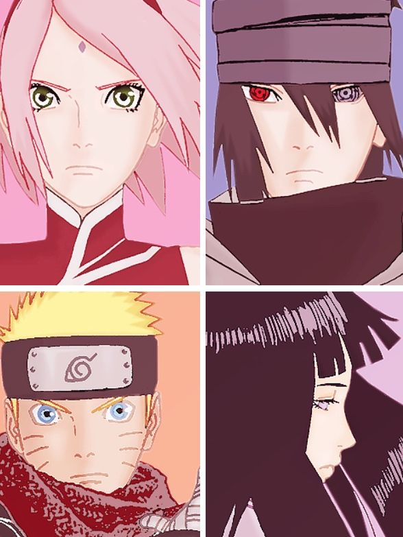 Naruto - Naruto the Last Movie - Sakura, Sasuke, Naruto, and Hinata. SasuSaku and NaruHina