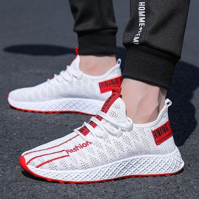 New Flying Woven Shoes Men's Mesh Breathable Sports Shoes