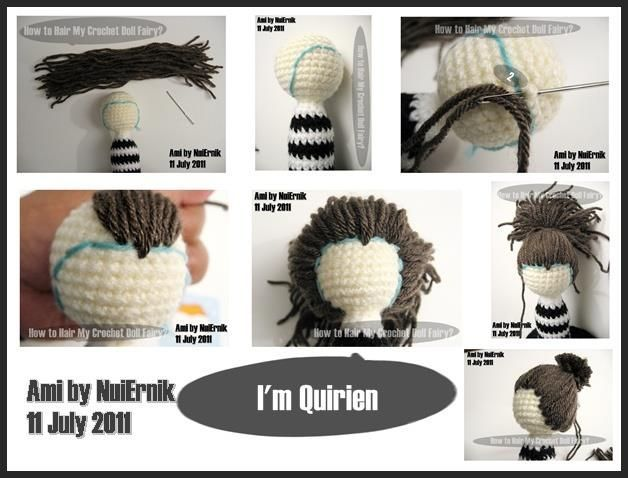 Amigurumi Hair - Tutorial: