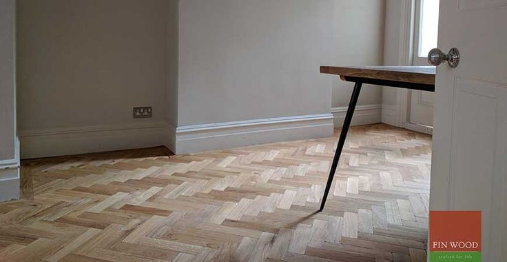 We fitted this engineered Aged Oak Parquet wood flooring, from The Natural Wood Floor Company, in a house in South London.  The client decided on a classic herringbone design, which was finished off with a single row border.