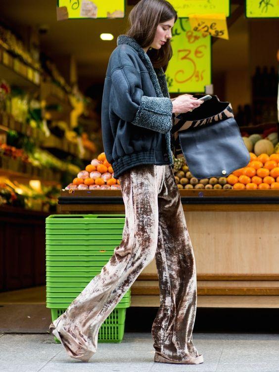 Velour trousers, oooooh yes!