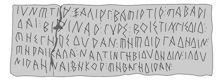 Plom I de La Serreta (Cara B) - Yacimiento arqueológico de La Serreta - Los principales materiales están depositados en el Museo arqueológico Camilo Vicedo, que lleva el nombre del principal excavador del yacimiento. De aquí proceden seis plomos escritos en alfabeto greco-ibérico.