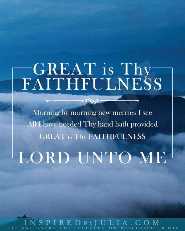 Great is Thy Faithfulness | Inspirational Word Art ...