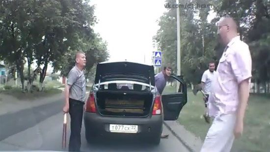 Video: Russian Road Rage: Bat vs Axe - A Funny Video on KillSomeTime