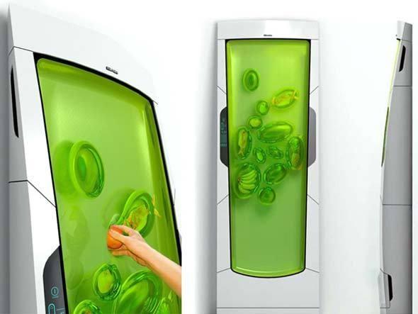 Geladeira usa gel para resfriar alimentos