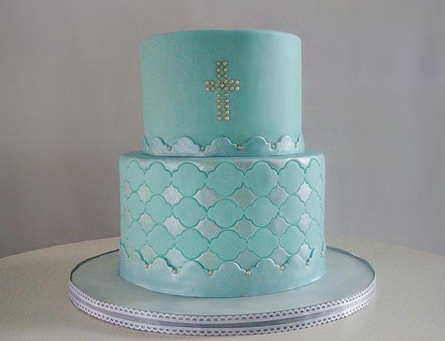 Lyle's Baptism Cake by Love & Sugar Bakeshop, via Flickr