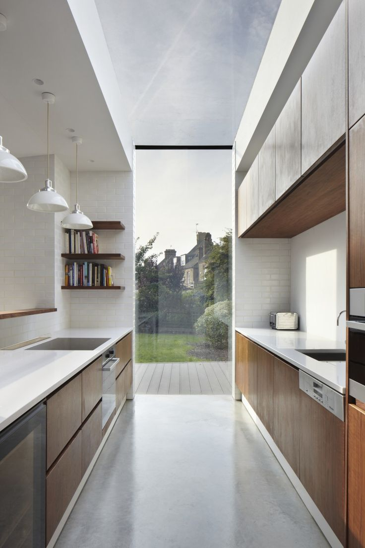 The House Home — Slotted skylight in a south London kitchen |...
