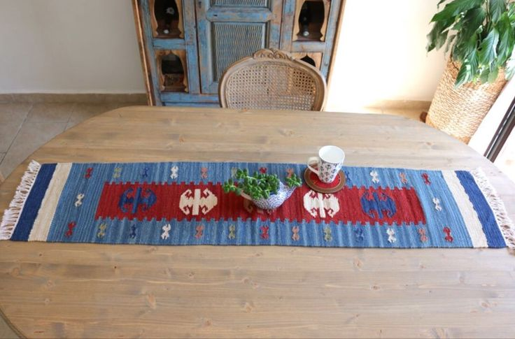 TURKISH KILIM TABLE RUNNER