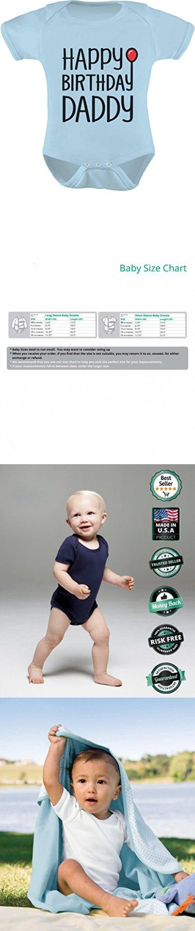 TeeStars Happy Birthday Daddy Cute Boy/Girl Infant Dad's Gift Baby Bodysuit 6M Aqua