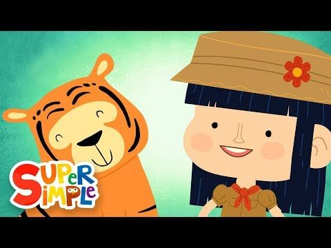 Wild Animal Songs For Kids Preschool Pre K Kindergarten Use While Teaching A Wild Animal Theme Songs Super Simple Songs Walking In The Jungle Action Songs