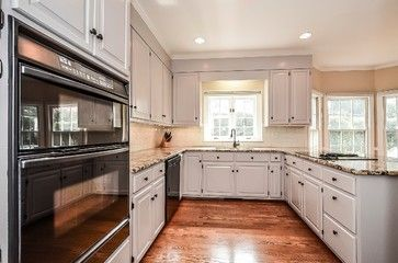 Examples Of Painted Kitchen Cabinets Hardwood Floors With Painted Cabinets Design Ideas