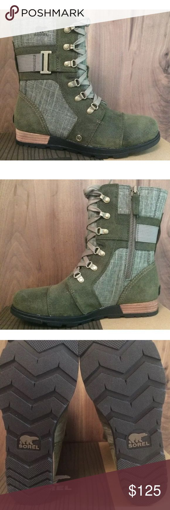 Sorel Major Carly Nori Pebble Boots sz 9 Sorel New in Box Major Carly Nori Pebble Women's Military Boots size 9. Retail for $160. Please look at reviews for the sizing on these boots to make sure you get the correct size. They have lace up details and an inside zip to make them easy to get on. Super cute boots! ♦️No Trades♦️ Sorel Shoes Lace Up Boots