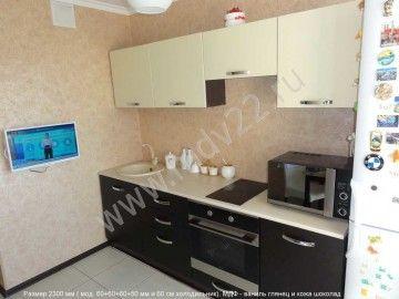 Кухонный гарнитур прямой в квартире 121 серии.. Размер 2300 мм .