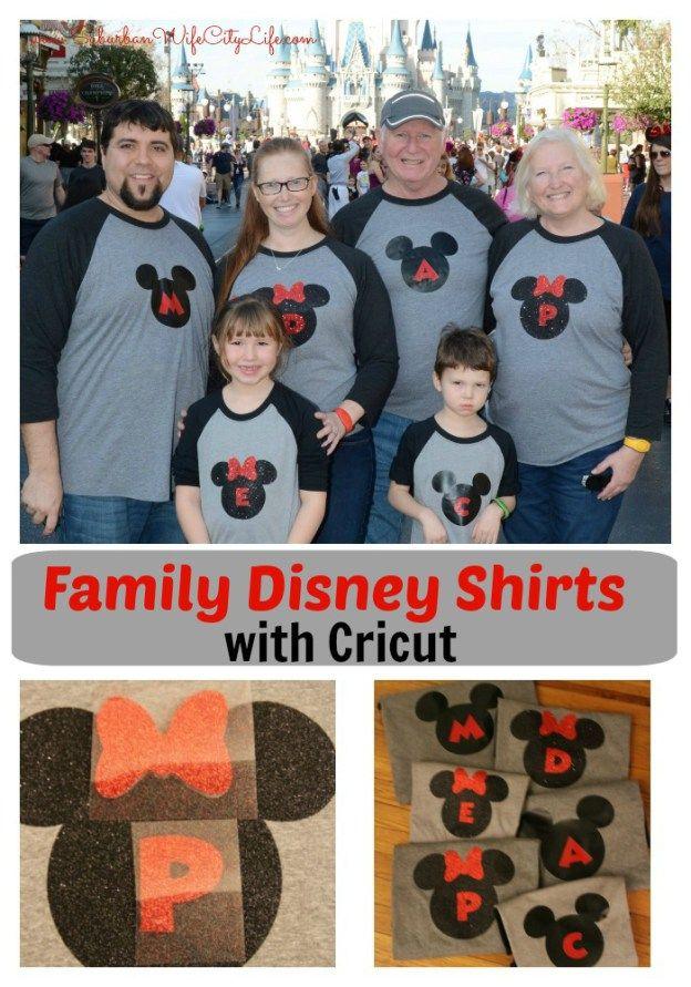 Diy Family Disney Shirts With Cricut Suburban Wife City Life Disney Shirts For Family