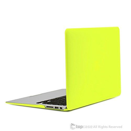 TOP #CASE #8211 #Air #13-Inch #Rubberized #Hard #Case #Cover #for #Macbook #AiTOP CASE – Air 13-Inch Rubberized Hard Case Cover for Macbook Air 13″ (A1369 and A1466) with TopCase Mouse Pad – Neon Yellow