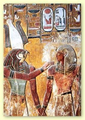 """Osiris said, as a cry of help to his wife and sister, """"Sy k ri"""", or hurry to me."""