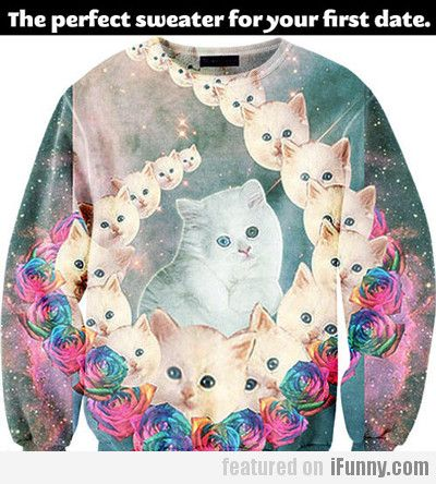 The Purrrrfect Sweater For Your First Date...