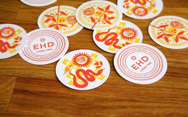 Eight Hour Day stickers