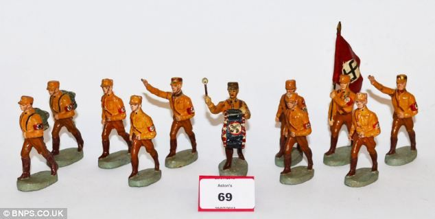 Also featured in the lots were rare models of SA soldiers, also known as the Brown Shirts - the first Nazi paramilitary group