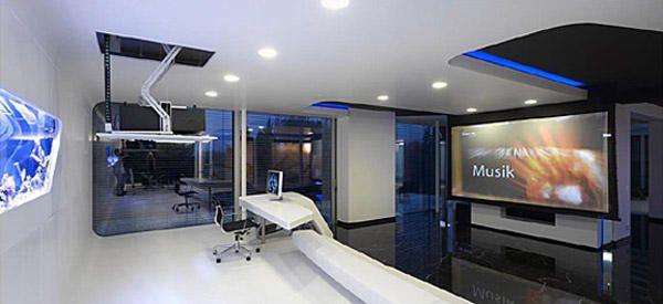 High tech home office design | Home design